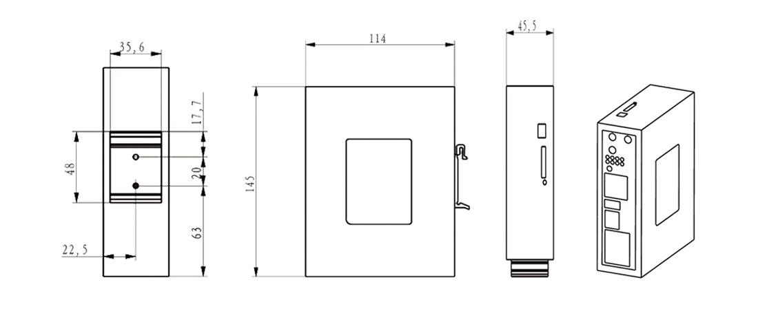 BMR520双卡路由器尺寸图