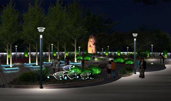 智慧公园灯杆照明.jpg